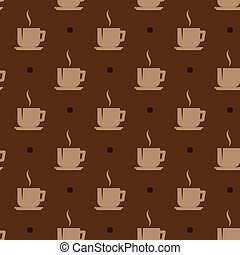 seamless background with coffee cups