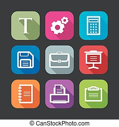 flat icons for web and mobile applications flat design with...