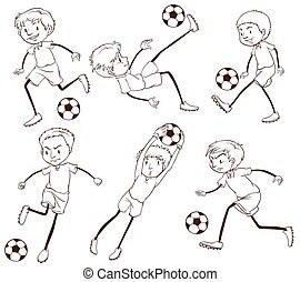 A group of soccer players