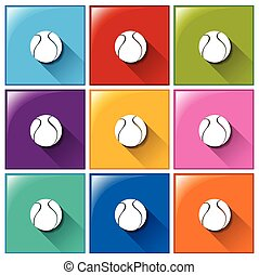 Square buttons with balls