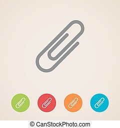 vector paper clip icons