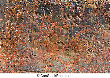 Rusty metallic surface for use as a texture or background