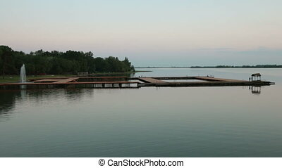 Pier on a quiet lake
