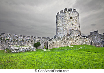 Old Byzantine era castle at central Greece