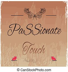 passionate touch background with vector illustration