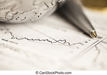 Business and Financial indicators - Photography of euro...