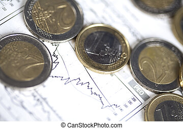 Euro coins - Photography of euro coins, money as a medium of...
