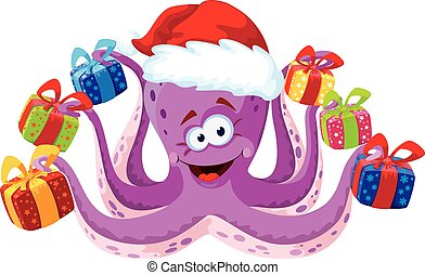 octopus with gifts