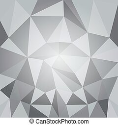 Abstract polygonal background - Abstract polygonal gray...