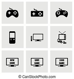 Vector video game icon set