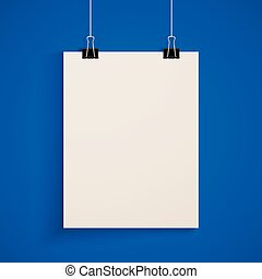 template of a paper sheet. poster mock-up