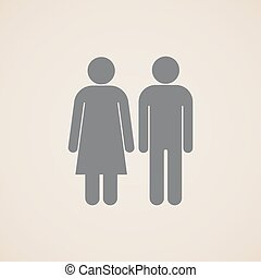 vector signs of man and woman restroom