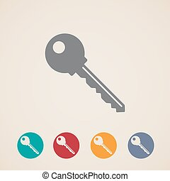 vector key icons