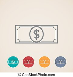 vector money icons