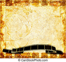 Grunge background with abstract frame.