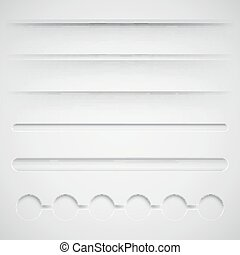 set of vector dividers for web design