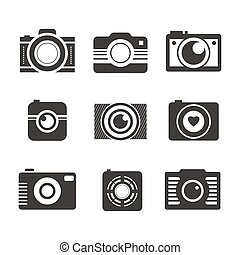 Photocamera Collection - Set of digital camera symbols made...
