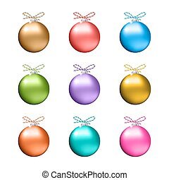 Collection of multicolored christmas balls