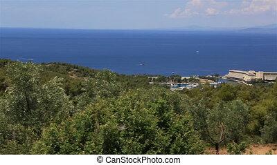 Porto Carras Meliton on the coast. Sithonia peninsula....