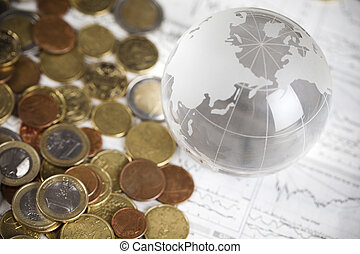 Money and Euro - Photography of euro coins, money as a...
