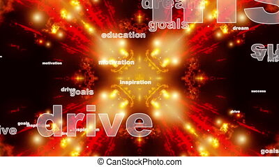 Dream Drive Success Abstract Looping Animated Background
