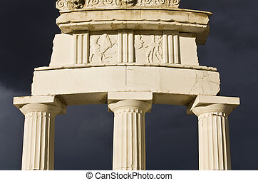 Detail of the Delphi Apollo temple in Greece