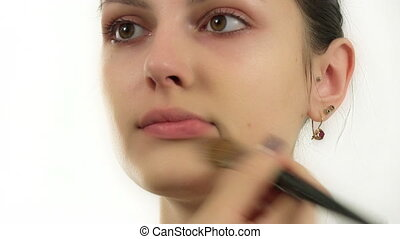 makeup for a model
