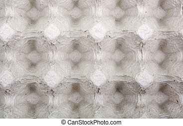 Empty cardboard package for eggs as background or backdrop