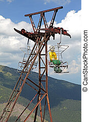 Old ropeway, Slovakia - Old ropeway in Low Tatras mountains,...
