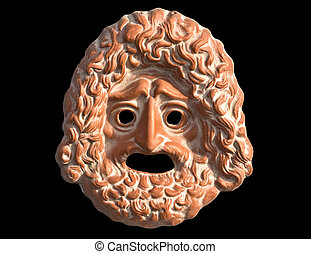 Mask used from actors on greek ancient tragedy performances