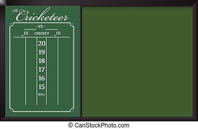 Cricketeer Chalkboard Scoreboard - Cricketeer Chalkboard...