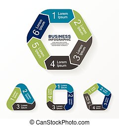 Circle arrows infographic, diagram, options - Layout for...