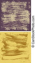 Grunge full frame - Set of two color grunge square...