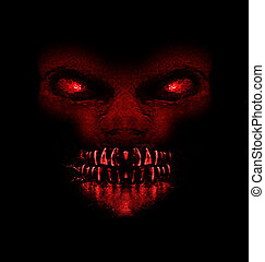 Evil Ape Monster Portait - Digital raster illustration evil...