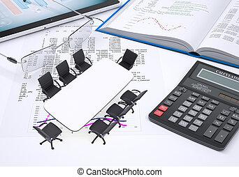 tableta, calculadora, libro, anteojos, papel, figuras, tabla,  PC, Columnas