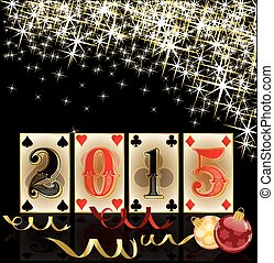 Happy 2015 new yearChristmas casino card