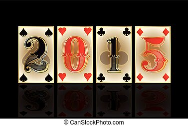 Christmas casino card, vector