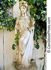 Ancient classic Greek statue showing Goddess Artemis