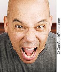 Screaming Man - Close up shot of screaming mans face