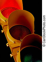 Traffic light-Illuminated Red