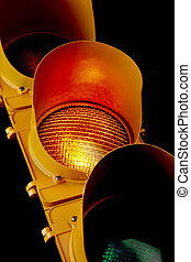 Traffic light-Illuminated Amber