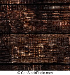 Coffee Experience Words On Wooden Texture. Vector.