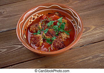 Eksili kofte - Delicious Turkish Home Made meatballs in...