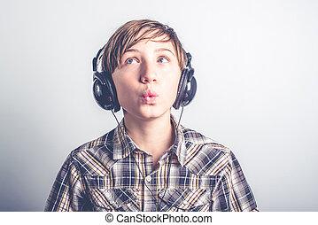 bom, música, escutar
