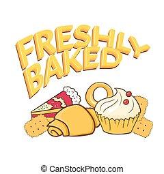 Fresh baked vector illustration - Fresh baked vector...