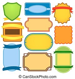 Vector set of blank labels