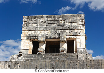 Chichen Itza Ball Game - Detail of a tower at the Juego de...
