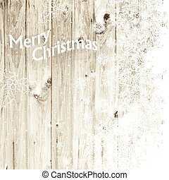 Merry Christmas Greeting Card With Isolated Side Vector