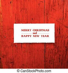 Merry Christmas Greeting Template Card. Vector