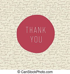 Thank you vintage greeting card. Vector